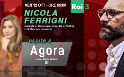 Nicola Ferrigni ospite di Agorà