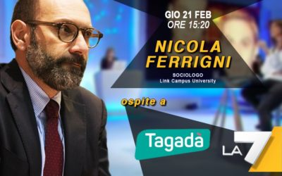 giovedì 21 febbraio ferrigni ospite di «tagadà»