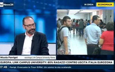FERRIGNI A «RAI NEWS 24» GIOVANI E LAVORO